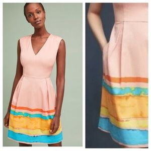 NWT Anthropologie Painterly Pleated Dress size XS